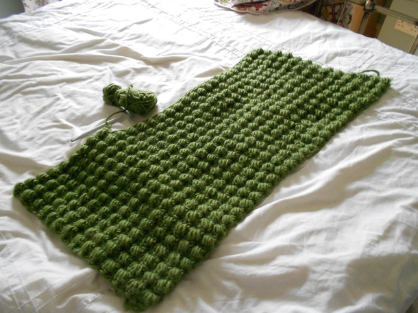 Green Bobble blanket
